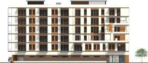 Stara Przędzalnia nowe mieszkania Żyrardów wizualizacja elewacji południowo-zachodniej - wizualizacja elewacji