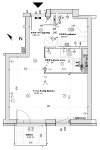 nowe mieszkanie jednopokojowe zbalkonem