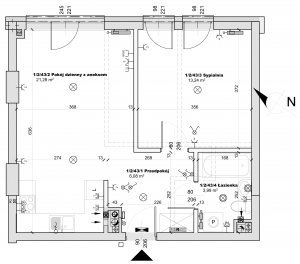 dwupokojowe mieszkanie na sprzedaż plan